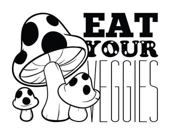 Eat Your Veggies Wall Decal