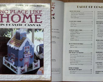 1998 plastic canvas pattern book No Place Like Home decor tissue box covers