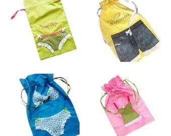 Custom Lingerie Bag, Travel Pouch, laundry Bag, Show Bag -  Drawstring