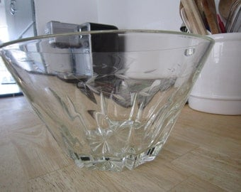 Princess House Lead Crystal Salad Bowl