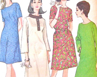 Uncut 60s McCall's 8999 Dress Pattern  Bust 41 inches