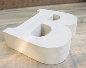 5 inch tall distressed wooden letter capital B