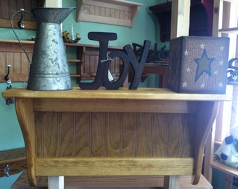 "Coat Rack Display Shelf Wood Wall Shelf Country Coat Rack 24"" Wide Rustic Shelf"