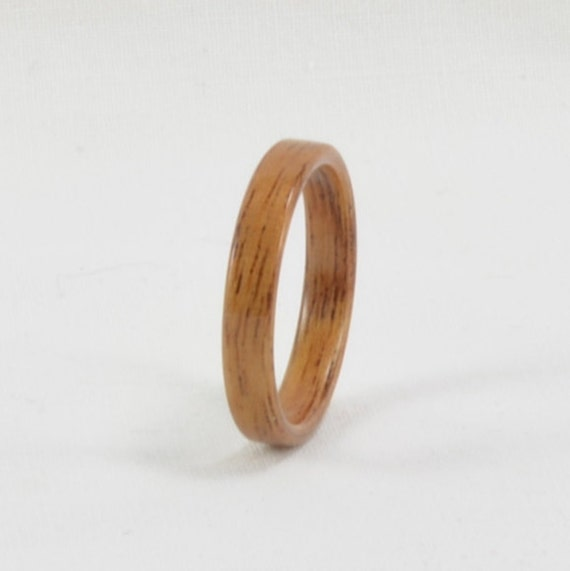 Wood Ring - South American Mahogany Bentwood Ring Wedding Ring Wedding Band Engagement Ring Man's Ring or Woman's Ring All Natural Handmade