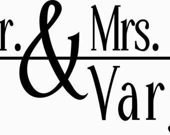 Wedding Mailbox Decal - Card Box - Gift Table Decoration - Vinyl Decal