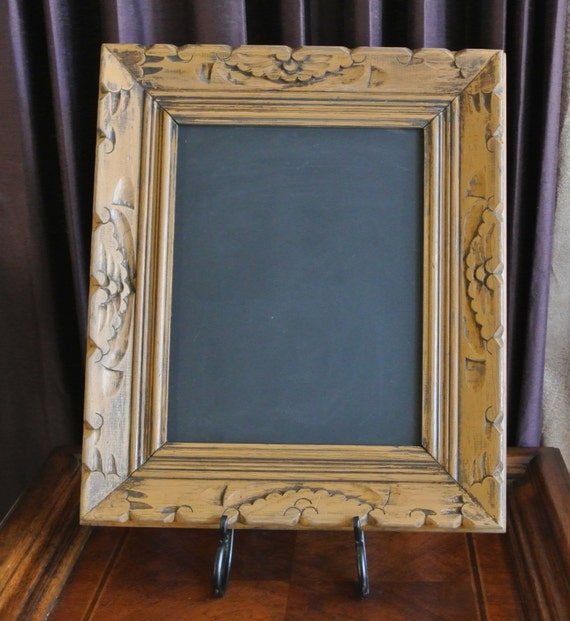 Vintage Hand Carved Frame Chalk Board Magnet Board