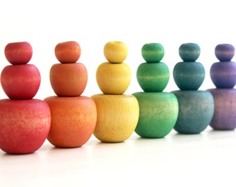 Sort Apples - a Counting, Sorting, Sizing manipulatives for Math - Montessori and Waldorf inspired