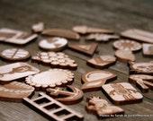 Wooden Miniatures for Montessori Alphabet Starting Sounds Activity- Set 2