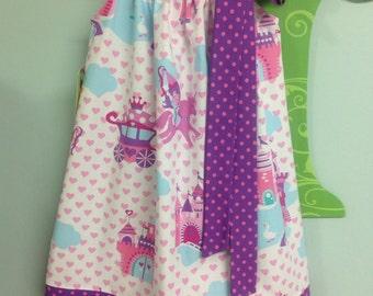 Ready to Ship! Size 3 Fairytale Castle Pillowcase Dress