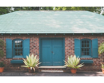 Architecture Photography Long Island Door Photo Rustic Decor Garden Barn Building New York Art Landscape Teal Plants Succulent Agave Cactus