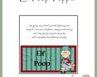 Elf Poop Topper - Digital Printable - Immediate Download