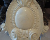 Vintage SHABBY Cream Ornate Architectural Piece