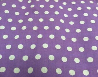 Polka dot print fabric light purple