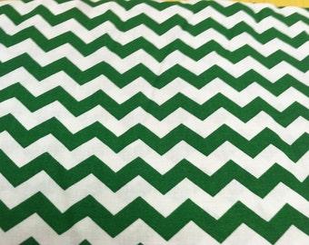 Chevron print fabric green