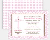 """CROSS - Printable 5""""x7"""" Invitation - for Baptism, Christening, Dedication or First Communion - Covenant Cross Collection by Make Life Cute"""