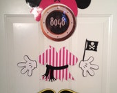 Hot Pink Minnie Mouse Pirate Body Part Stateroom Door Magnets for Disney Cruise