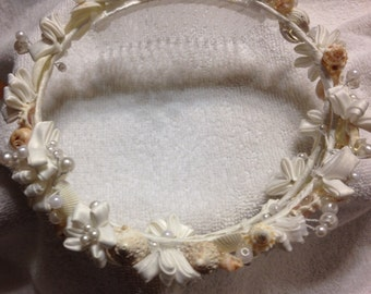 Wedding Seashell  Crown Accessory Bride Bridesmaid Hair Sea Shell Starfish