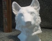German Shepherd Dog Bust in Ceramic Bisque - Ready to Paint Shepherds Dogs