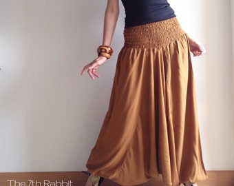 3 in 1 Harem Pant in Caramel Brown