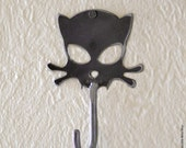 Outlaw Kitty Handmade Metal Wall Hook by WATTO Distinctive Metal Wear