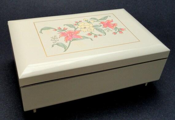 Vintage Jewelry Box Musical Otagiri Laquerware Prima Japan