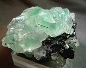 Deep apple green Fluorite / Flourite with Sphalerite