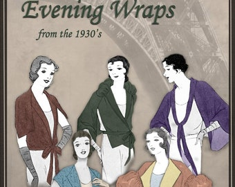 1930s Easy to make Evening Wraps Beautiful Vintage Red Carpet Attire