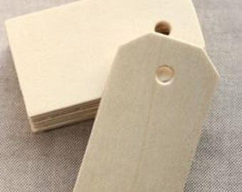 Unfinished Wooden Tags - Great for Gift Tags - 3 1/4 x 1 5/8 inch  Ready for your artistic touch