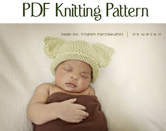 Baby Yoda Hat Pattern, knit, Boston Beanies