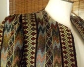 Vintage 90s Woven Tapestry Tribal Blazer jacket S M Free Domestic Shipping
