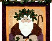 Finished & Quilted Hand-made Original Quilt Father Christmas