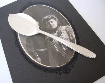 Sterling Silver Jelly Server Spoon, Southern Charm 1947 by Alvin Sterling, Art Deco Serving Spoon