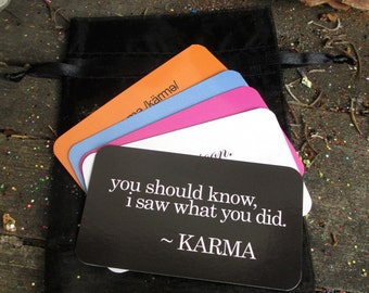 Rita's Karma is Onto You Cards - Let Them Know their Karma is Coming