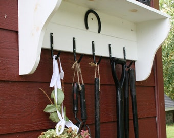 Garden shelf and tool storage