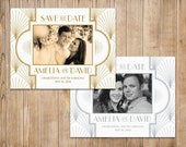 Printable Save the Date - The Charleston - Gatsby Save the Date - Art Deco Wedding - 1920s Wedding - Gatsby Wedding