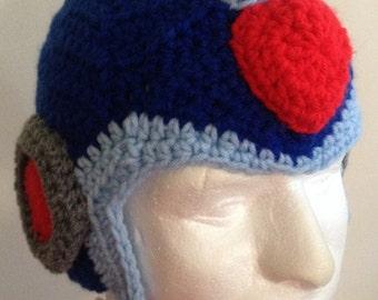 crochet Mega Man X helmet