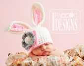 Easter Bunny Rabbit Hat, Baby Photo Prop - Made to ORDER