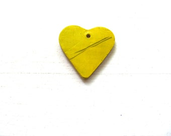 YelloW--GreeN--ReD--Blue--PinK-HeaRt----Ceramic Necklace---Love----Gift--Neon