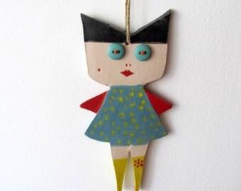 Ceramic Marionette---Blue eyes-Anna dolls----Gift--Sweet- Doll--moblie.-Modern--Home decor-Chrsitmas gift--Gift under 50 USD