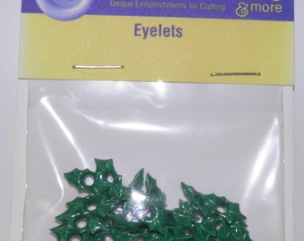 ON SALE  Holly Leaf Eyelets