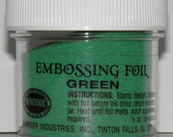 ON SALE  Green Embossing Foil