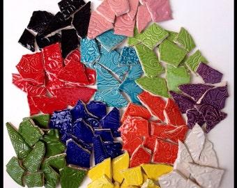 Mosaic Ceramic Tiles - Multi Colored - 1 Square Foot
