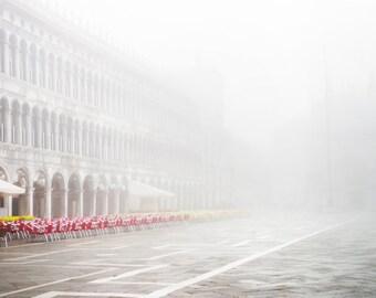 Venice in Fog Fine Art Photograph -  Venice, Italy Travel Photograph, St. Mark's Square, Home Decor, Large Wall Art
