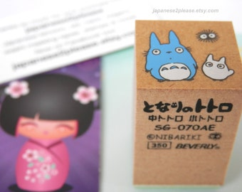 Totoro Wooden Rubber Stamp