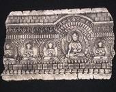 Buddha Ceramic Pottery Porcelain Relief Sculpture Tile
