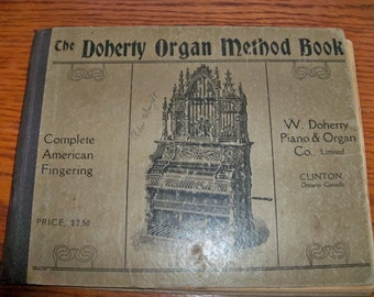 antique doherty organ method book