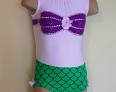 Princess Ariel Inspired Toddler Girl Leotard Size 2T - Girls 7