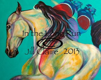 Native Buckskin Horse Buffalo Art Painting Jill Claire Original