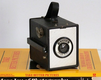 Vintage Camera, Ansco Shur Flash Box Camera, 1950s