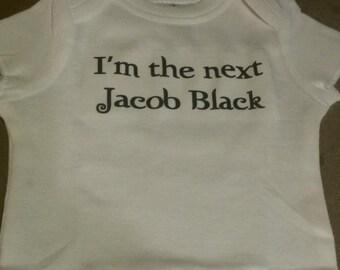 Twilight baby boy onesie the next Edward Cullen Jacob Black